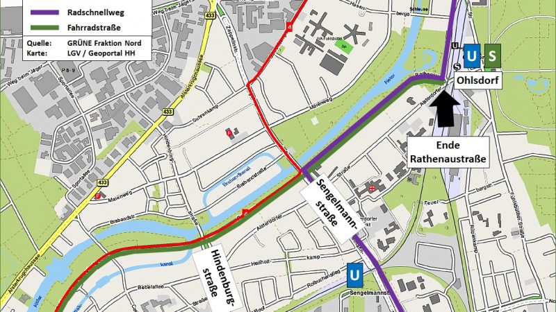 """""""No serious policy"""": the new bicycle street in Alsterdorf has been criticized"""