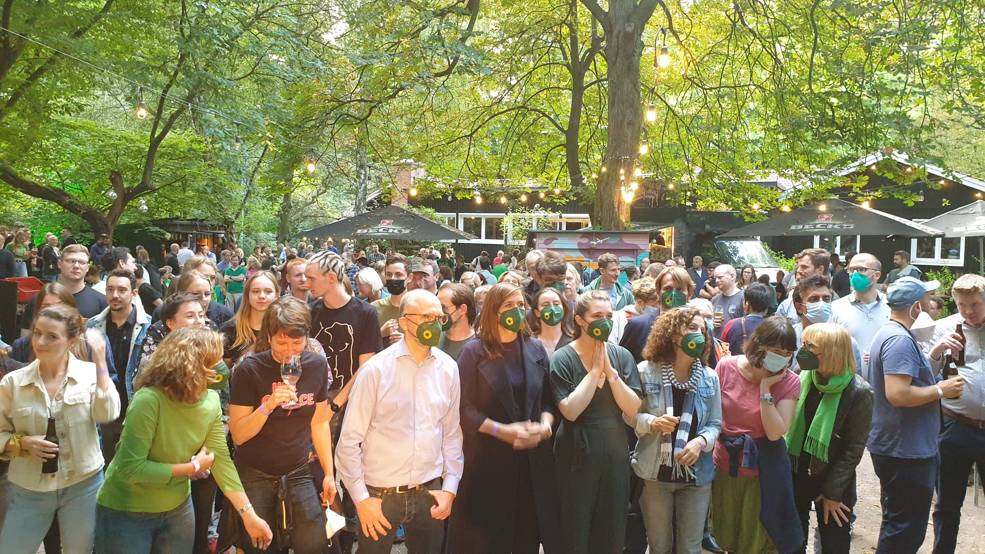 Green election party in Hamburg: claim missed